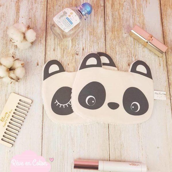 lingette lavable Panda