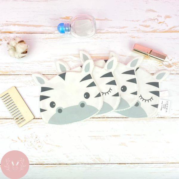 Lingettes lavables Zebre