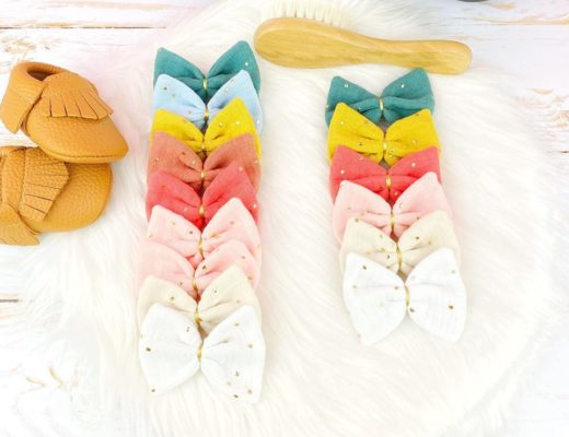 Barrettes double gaze de coton
