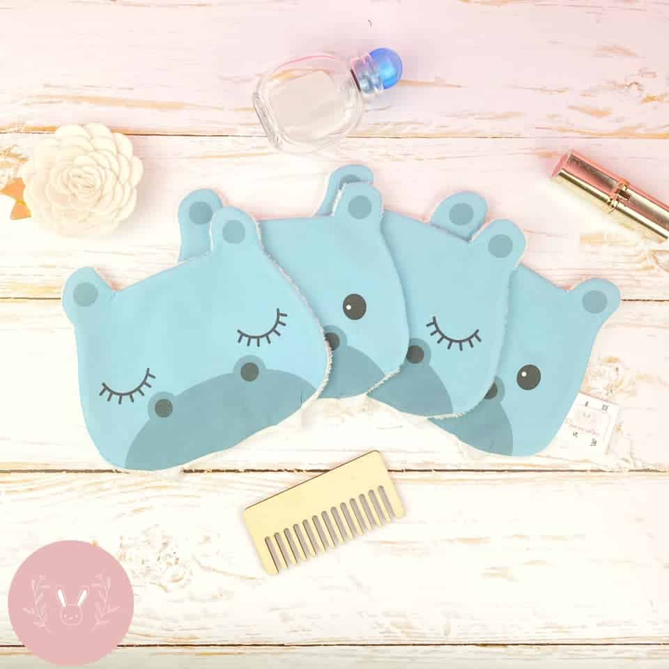 lingettes lavables hippopotames