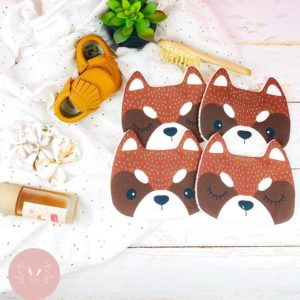 Lingettes lavables Panda roux