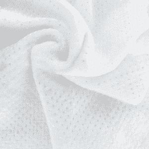 lisse blanc pois argenté