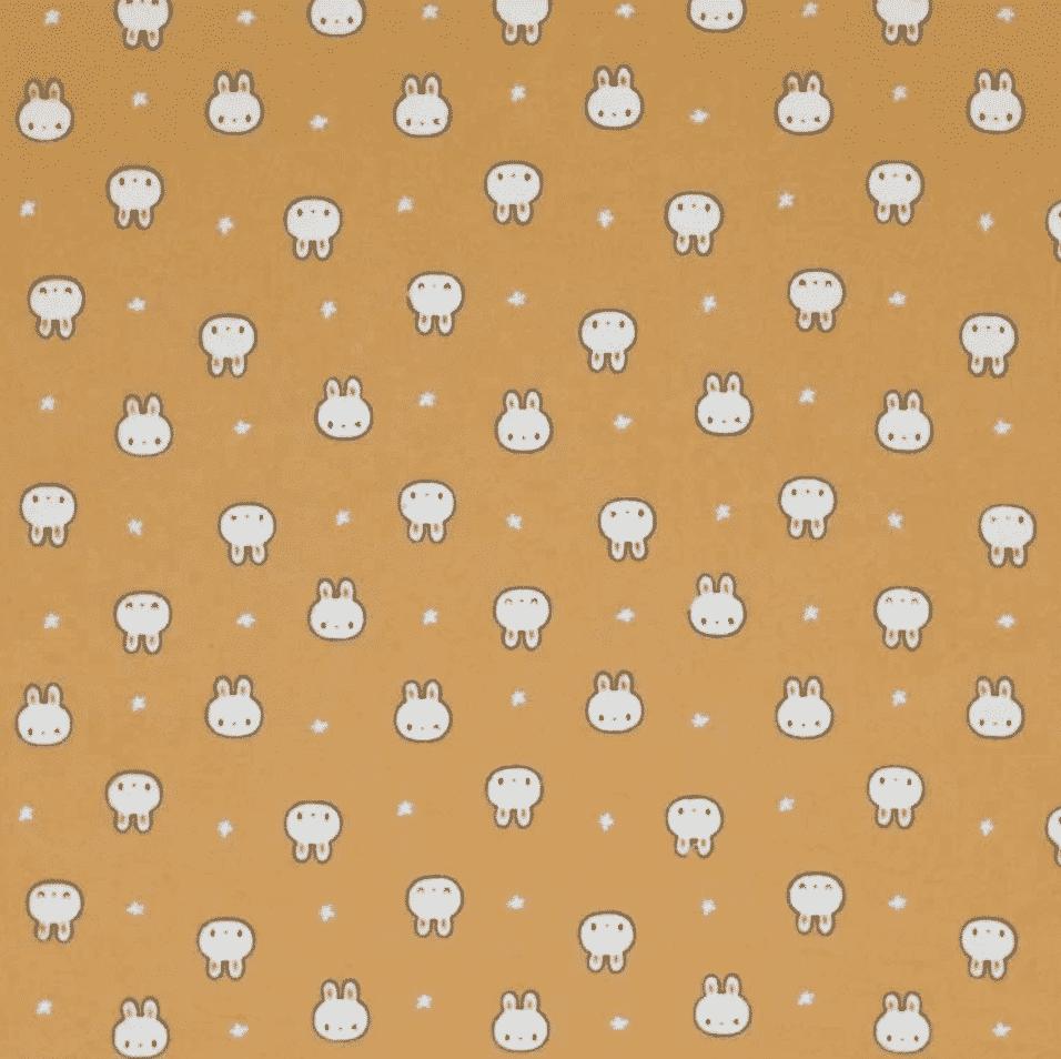 coton lavé lapin moutarde