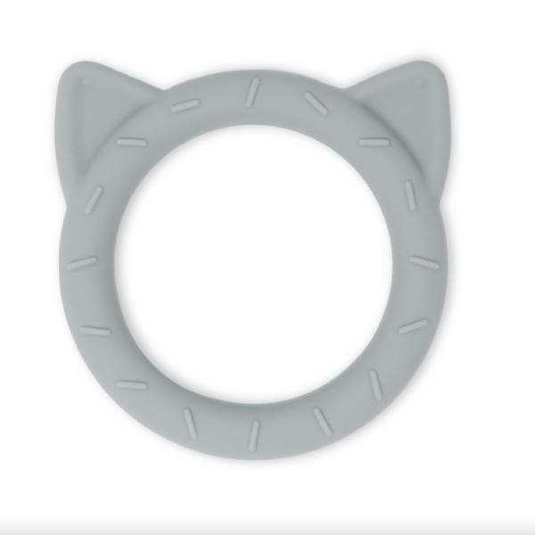 Anneau de dentition Mushie chat gris