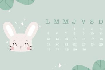 calendrier avril à imprimer